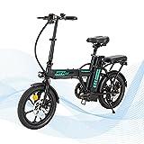HITWAY Bicicleta eléctrica, batería extraíble de 7.5 Ah, Motor de 250 W, Rueda de 16 Pulgadas, Bicicleta de Ciudad, E Bike Ligera y Plegable con Asistencia de Pedal para Adolescentes y Adultos