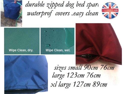 Durable de haute qualité imperméable 91,4 x 76,2 cm Taille M pour chien Pet (Housse uniquement) – Bleu – Fabriqué au Royaume-Uni