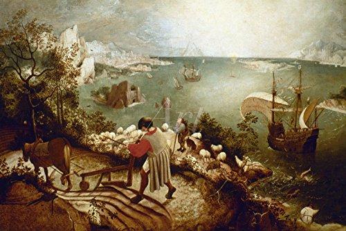 Artland Alte Meister Wandtattoo Pieter Brueghel d.J. Gemälde Kunstdruck 40 x 60 cm Landschaft mit...
