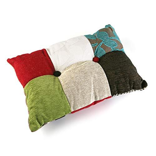 cuscino divano rettangolare VERSA 19500753 Cuscino Rettangolare con Imbottitura Patchwork BL/GR