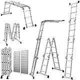 GABZ 4x4 Multi-Function 4.7m (15.5ft) Aluminum Ladder with 2 Platforms