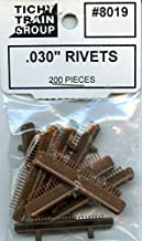 Tichy Train Group All Scale HO/O .030'' Rivets 200 Pcs Plastic Detail Set #8019