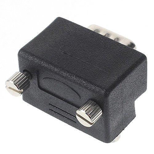 『VGAオス-VGAメス 変換アダプター L字型 D-sub15ピン オス・メス』の2枚目の画像