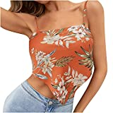 Mujeres Camisas y Blusas Venta,Señoras Personalizado Impresión Lazo Back Satén Bandana Tops Sling Strap Chaleco Oficina Reino Unido Tamaño Envío 7 Días