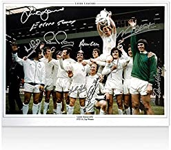 Multi Signed Leeds United 1972 FA Cup Winners Photo - Signed by 10 Autograph - Autographed Soccer Photos