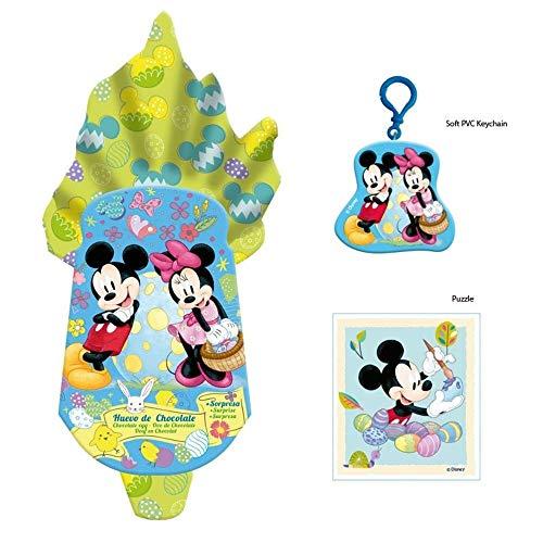 Disney Minnie e Mickey Mouse Uovo di Pasqua al Cioccolato al Latte Formato Grande 120g + Sorpresa Dentro (ESCLUSIVO) Uovo di Pasqua ufficiale 120g