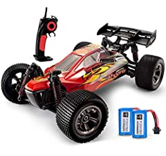 │Beginner's Choice│This 1/12 Scale RC Car accelerated by the powerful GP 390 motor-largest in class, 500MA battery, smooth driving systems, reaches speed up to 30+KMH and super easy to control. An ideal rc car for beginners. │LARGE CAPACITY BATTERY│C...