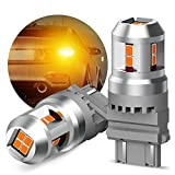 KXJX 3157 LED Amber Yellow Bulb LED Turn Signal Bulb 3156 3056 3057 4157 3457A 3157A 3757 LED Replacement Lamp for Turn Signal Blinker Bulb (Pack of 2)