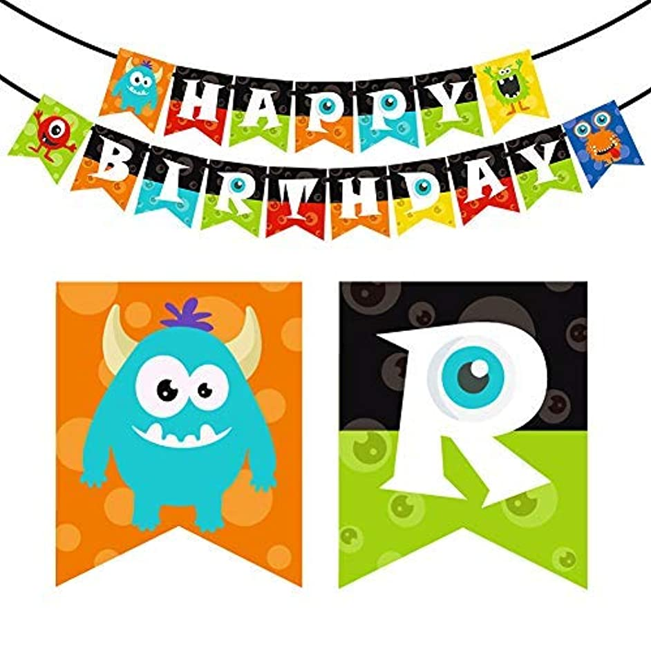Monster Happy Birthday Banner Monster Bash Party Supplies