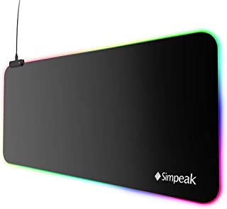 Simpeak (800x300x4mm) Large Extended Led Gaming Mouse pad Natural Rubber Base led Gaming Mouse Mat Pad, Keyboard Mat for G...