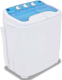 vidaXL Lavadora Miniatura 2 Tambores 5,6kg Electrodoméstico Máquina Lavar Ropa Pequeña Dormitorio Escuela Cocina Caravana ...