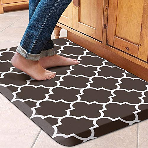 """WISELIFE Kitchen Mat Cushioned Anti-Fatigue Kitchen Rug,17.3""""x 28"""",Non Slip Waterproof Kitchen Mats and Rugs Heavy Duty PVC Ergonomic Comfort Mat for Kitchen, Floor Home, Office, Sink, Laundry"""