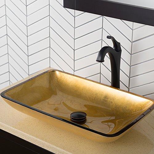 Kraus KVF-1200ORB Arlo Bathroom Faucet, 12.13, Oil Rubbed Bronze