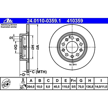 Brembo 08 9460 41 Coated Disc Line Bremsscheibe Paar Auto