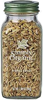 Simply Organic Fennel Seed, Certified Organic | 1.9 oz | Foeniculum vulgare Mill.
