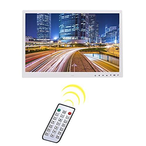 LHX Marco de Fotos Digital de 17 Pulgadas, álbum electrónico, HDMI HD 1080P Soporte de visualización de Pared, Reproductor de Video publicitario, se Puede activar o desactivar automáticamente