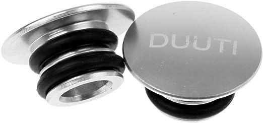 1 Paar Lenker Enden Stopfen Aluminium Lenkerendkappen Lenkerstopfen Silber