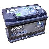 EXIDE PREMIUM Carbon Booster EA 722 12V 72AH Starterbatterie Neues Modell 2014/15