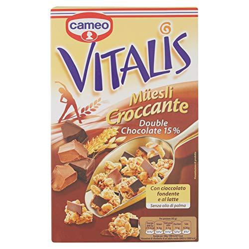 Cameo Vitalis Croccante Con Cioccolato Fondente e al Latte, 300 Gr