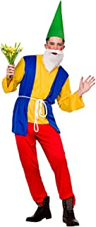 Adult Grumpy Gnome Costume Mens Seven Dwarfs Fairytale Fancy Dress Stag Do Panto