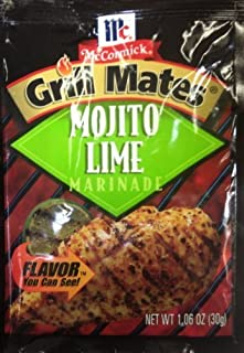 McCormick Grill Mate MOJITO LIME Marinade 1.06oz (6 Packets) by McCormick