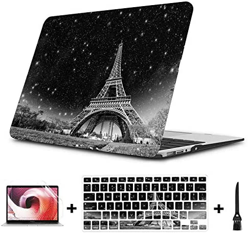 Case for MacBook Air Night View of Eiffel Tower in Paris Plastic Hard Shell Compatible Mac Air product image