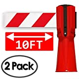 Traffic Cone Topper - 3 Meters / 10 Feet Retractable Safety Belt - Orange (Pack...