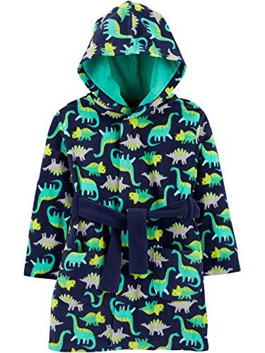Simple Joys by Carter's Sleeper Robe Bademantel für Babys und Kleinkinder, Grün/Marineblau, Dinosaurier, 4-5 Jahre