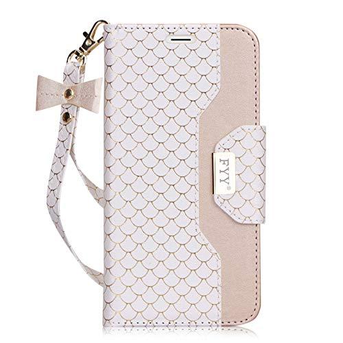 Galaxy S7 Edge Brieftasche Hülle Leder,Handyhülle für Samsung Galaxy S7 Edge Tasche mit Kredit Karten Fach Geldklammer und Spiegel für Samsung Galaxy S7 Edge Klapphülle (5,5