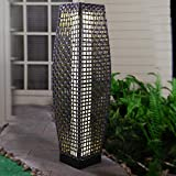 Grand patio Outdoor Solar-Powered Woven Resin Wicker Floor Lamp for Deck, Garden, Lawn, Driveway, Pool, Porch…