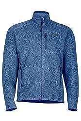 Marmot Drop Line Men's Jacket, Lightweight 100-Weight Sweater Fleece, Indigo Blue, Small