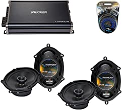 Compatible with Ford Five Hundred 2005-2007 OEM Speaker Upgrade Harmony (2) R68 & CXA300.4 Amp (Renewed)