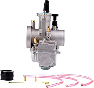 AUTOMUTO PWK30mm Carburetor Fits Dirt Pit Bike, ATV, Go Kart, Motorcycle, Scooters Engines Carb Assembly