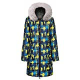 Bravetoshop Women's Mid Length Quilted Jacket Down Winter Warm Coat Thicken Coat with Fur Trim Plush...