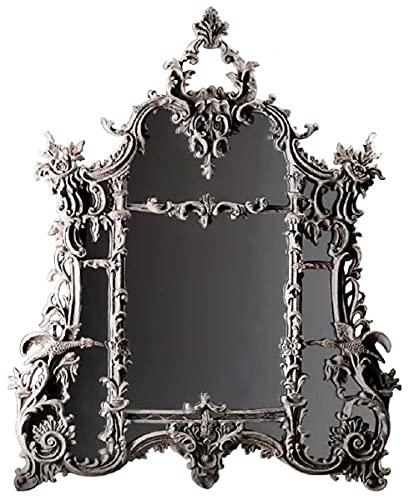 Casa Padrino Espejo Barroco Gris - Magnífico Espejo de Pared Hecho a Mano de Estilo Barroco - Espejo de Armario de Estilo Antiguo - Espejo de salón - Muebles Barrocos