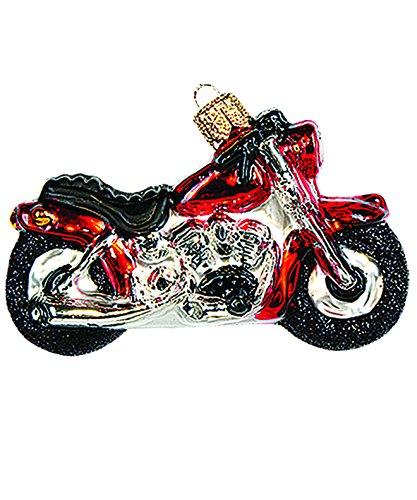 Impuls Christbaumschmuck Figuren Glas Transport Fahrzeuge Motorrad 7.5cm