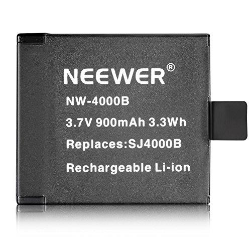 Neewer NW4000B 3.7V 900mAh SJ4000B Replacement Battery for SJ4000 SJ5000 SJ6000 SJ7000 of RioRand, AFUNTA, SJCAM, DBPOWER, QUMOX, Tronsmart, MeGoodo, Tronsport and Neewer Action Camera