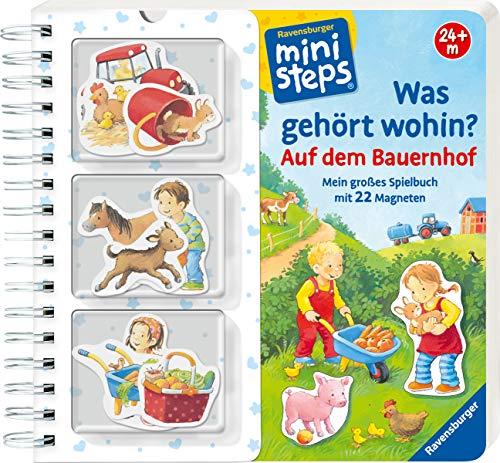 Was gehört wohin? Auf dem Bauernhof: Mein großes Spielbuch mit 22 Magnetteilen. Ab 24 Monaten (ministeps Bücher)