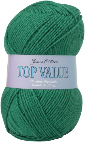 100g Top Value Double Knitting Yarn by James Brett (Jade green 845)