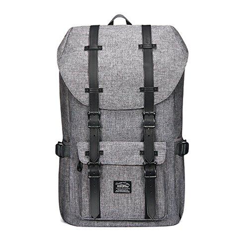 KAUKKO Rucksack Damen Herren Schön und Durchdacht Daypack mit Laptopfach für 15