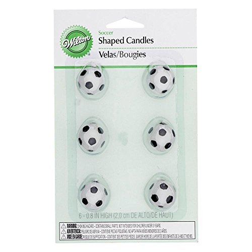 Wilton Set Velas balón de fútbol, 6 Unidades, Centimeters: Amazon ...