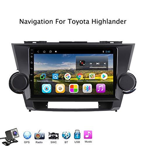 Buladala Android 8.1 Quad Core Stereo GPS Navigation 9 Pouces LCD pour Toyota Highlander 2009-2014 Intégré Lecteur Video Et Autoradio, Soutient WLAN USB SD/Bluetooth Appel Main Libre,WiFi: 1+16gb