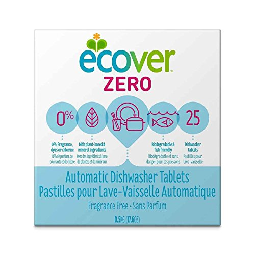 Ecover Zero Automatic Dishwasher Tablets, 17.6 Ounce - 12 per case.