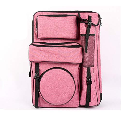 DSRHOM Doppelschulter Zeichenbrett Paket Kunstmappe 4K Skizze Kunsttasche Skizze Tasche Kunstmalerei Tasche Student Mit 4K Zeichentasche,Pink