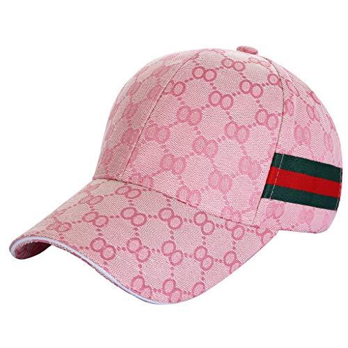 Ukerdo Al Aire Libre Deporte Equipado Gorras para Hombre Béisbol Sombreros Accesorios (Rosado)