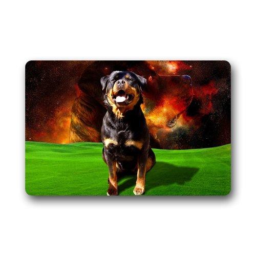 "Doormat No.01 Custom Lavable Felpudo Rottweiler Perros para Interiores/al Aire Libre Felpudo 23.6""(L) X 15,7(W)"