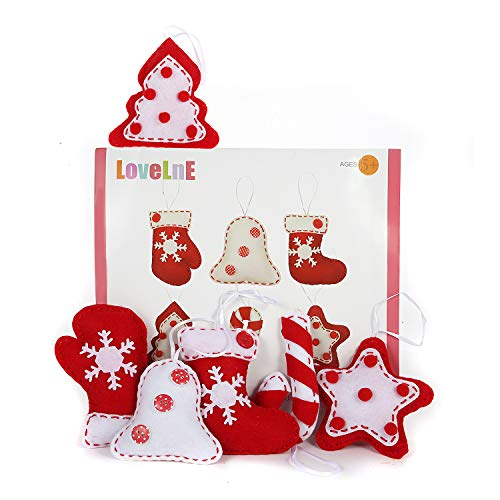 Christmas Ornament DIY kit, Felt Christmas Ornament, Kids DIY kit, Sewing craft, Christmas craft kits