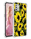 Yznoek for Moto G Stylus 2021 Case,Anti-Fall Shock Absorption Rubber Flexible TPU Gasbag Protection Soft Silicone Phone Case Cover for Motorola Moto G Stylus 2021 (Sunflower)