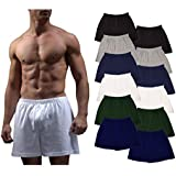 Mens Boxer Underwear Woven Cotton Boxer for Men...