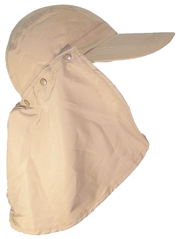 Stone Age Adult Long Billed Adjustable Ballcap W/Detachable Neck Flap (One Size)